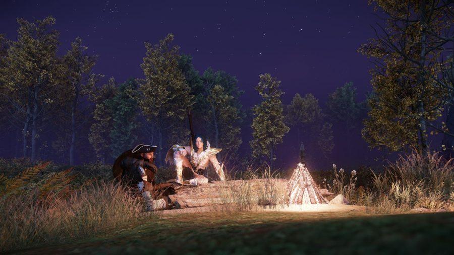 Лагерь в New World