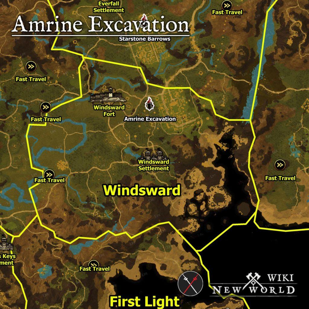 Amrine Excavation - место расположения на карте